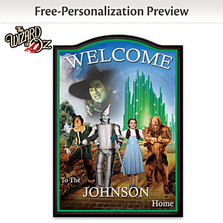 Wizard Of Oz Wooden Welcome Sign Personalized With Your Name
