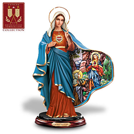 """Immaculate Heart Of Mary"" Sculpture And Free Prayer Card"