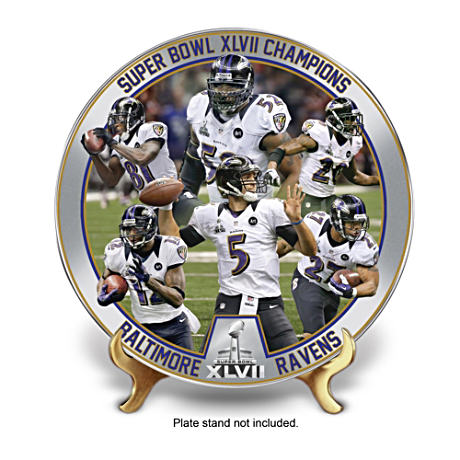 Baltimore Ravens Super Bowl XLVII Champs Collector Plate