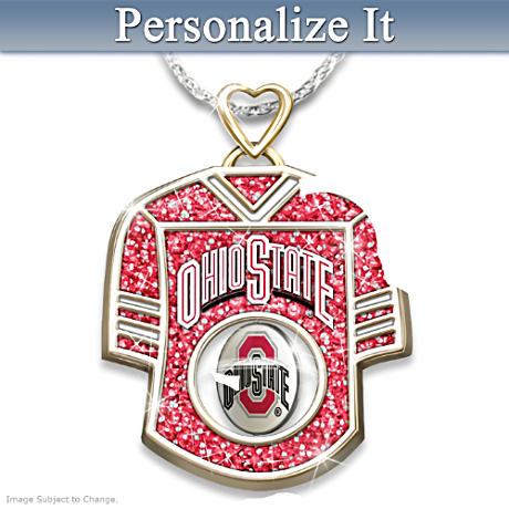Ohio State Buckeyes Name-Engraved 2-in-1 Jersey Pendant