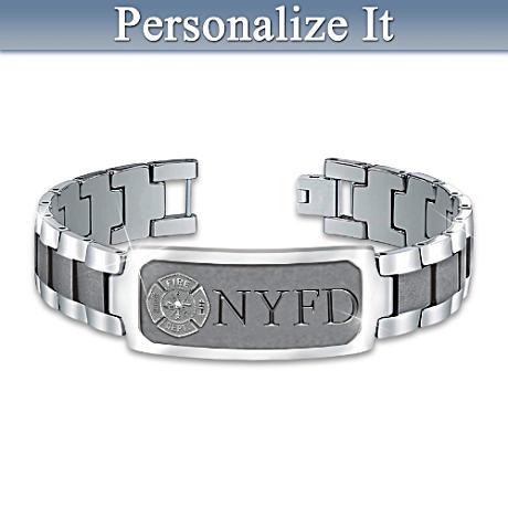 """""""Duty, Honor & Courage"""" Firefighter Custom-Engraved Bracelet"""