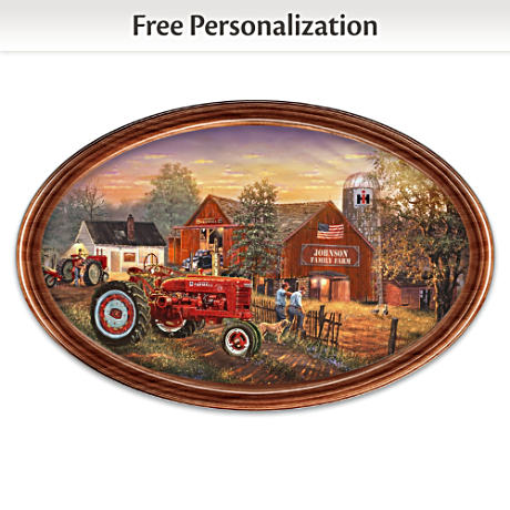 """""""Family Tradition"""" Farmall Personalized Masterpiece Plate"""