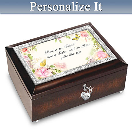 My Sister, My Friend Personalized Heirloom Music Box