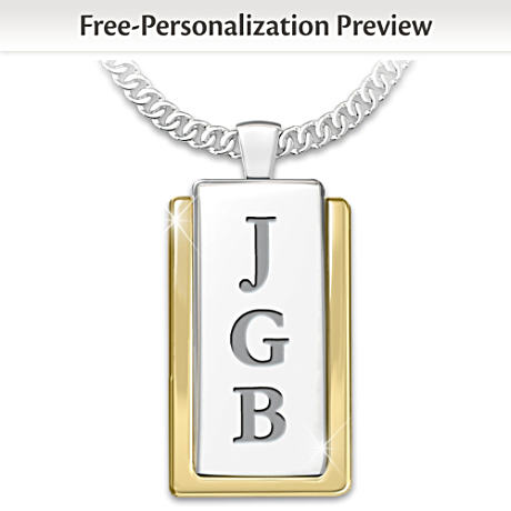 Monogrammed Pendant For The Man You Love