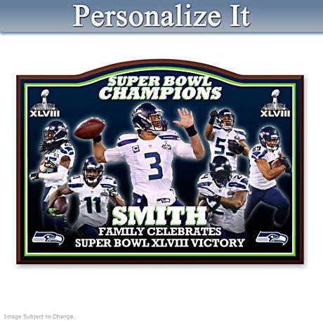 Seahawks Super Bowl XLVIII Personalized Wall Decor