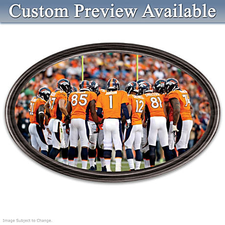 Broncos Framed Wall Decor With Your Name On QB's Jersey