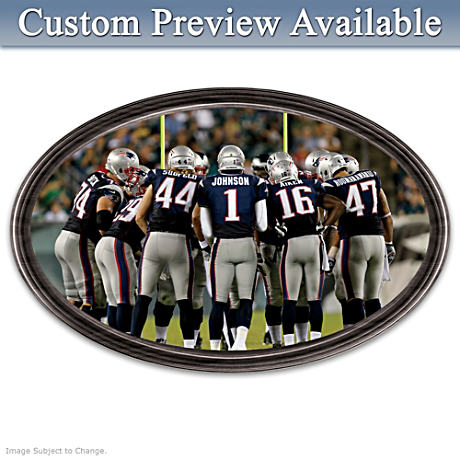 Patriots Framed Wall Decor With Your Name On QB's Jersey
