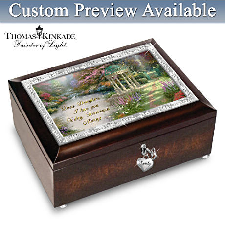 Thomas Kinkade Personalized Heirloom Music Box For Daughters