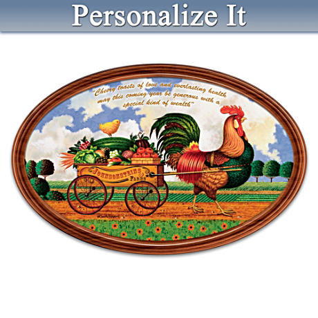 """Charles Wysocki """"Country Charm"""" Personalized Framed Plate"""