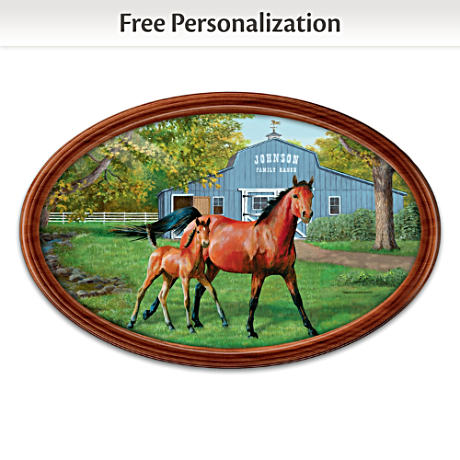"""""""Proud Heritage"""" Collector Plate With Your Family Name"""