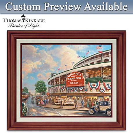 Thomas Kinkade Wrigley Field Personalized Canvas Print