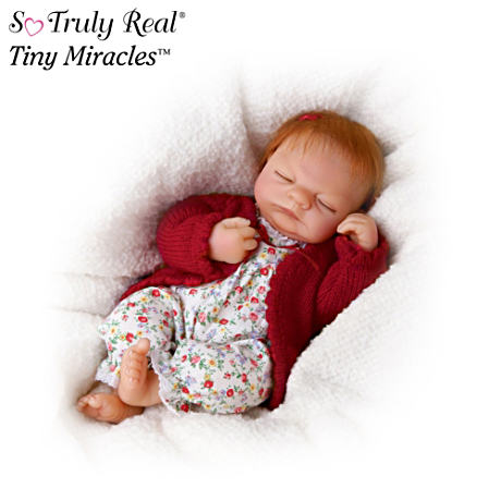 Tiny Miracles 10-Inch Baby Doll With Auburn Hair