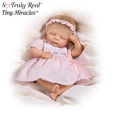 Lifelike Baby Doll Supports Breast Cancer Awareness