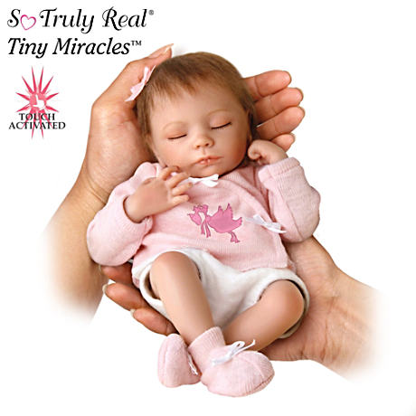 "Tiny Miracles ""Breathing"" Ashley Lifelike Baby Doll"