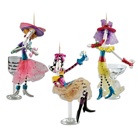 Dolly Mama's Happy Hour Ornament Set: Set Seven