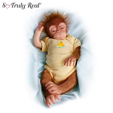 "Collectible ""Little Jala"" Baby Orangutan Doll"