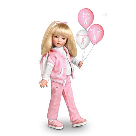 """Walk For The Cause"" Breast Cancer Awareness Doll"