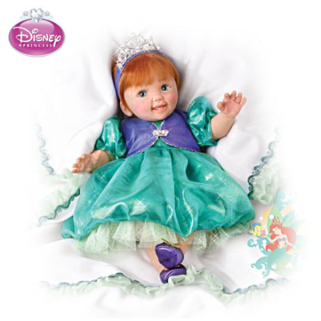 Musical, Movable Baby Doll In Ariel Outfit