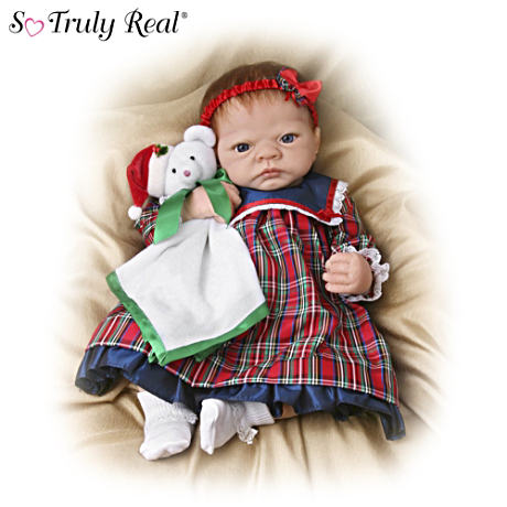 "Life-Size ""Merry Christmas, Emily"" Doll With Teddy Bear"