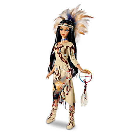 """Eagle Medicine Woman"" Ball-Jointed Doll"