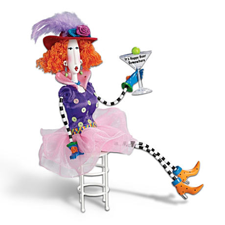 """It's Happy Hour Somewhere!"" Poseable Dolly Mama's Doll"