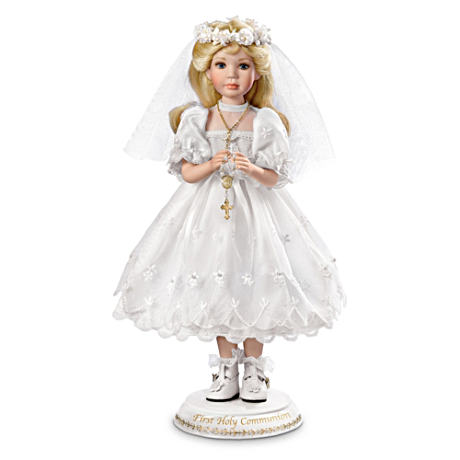 Her First Holy Communion Porcelain Doll