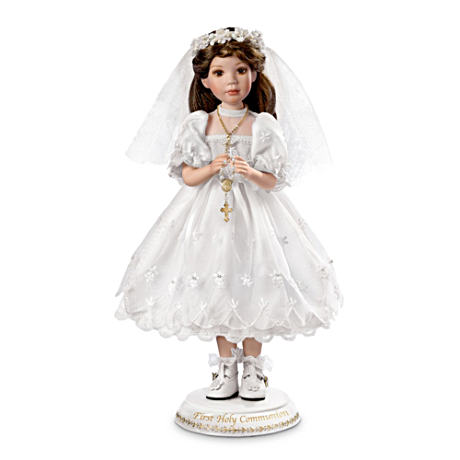 """Her First Holy Communion"" Porcelain Doll"