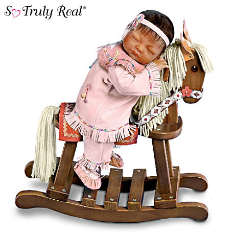 Native-American Inspired Baby Doll with Rocking Horse