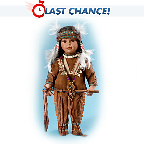 "Native American-Style ""Tonda"" Doll With Real Feathers"