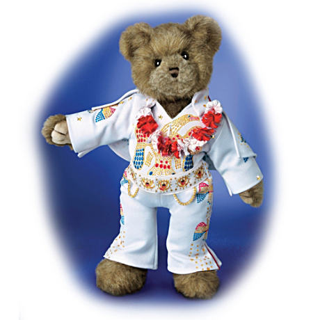 Fully Jointed Elvis Teddy Bear with Unlimited Posing