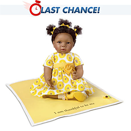 Peyton: African-American Baby Doll With Musical Blanket