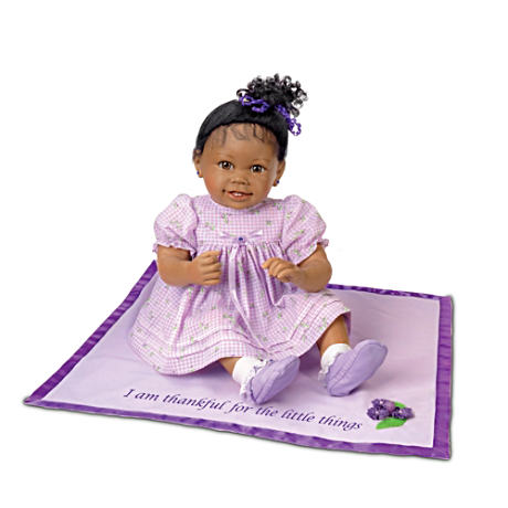 Ayana: African-American Baby Girl Doll With Musical Blanket