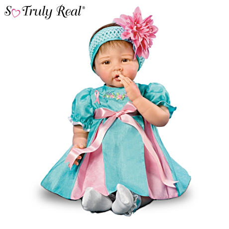 """Everlasting Faith"" Lifelike Breast Cancer Charity Baby Doll"