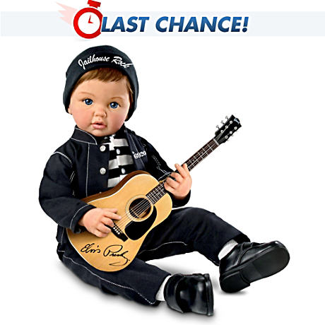 """Jailhouse Rock™"" Musical Baby Doll With FREE Guitar"