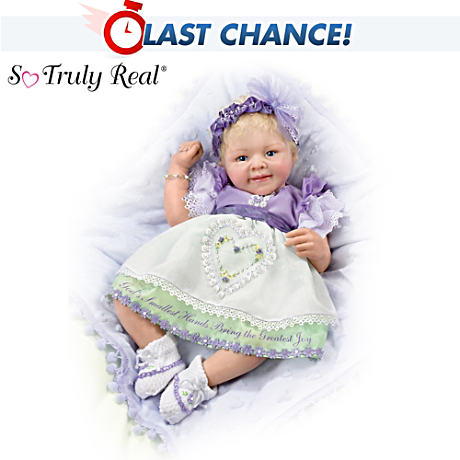 """God's Smallest Hands"" Baby Doll With Message"