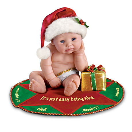 """It's Not Easy Being Nice"" Christmas Doll"