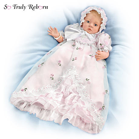 So Truly Reborn Christening Doll With 10-Piece Layette