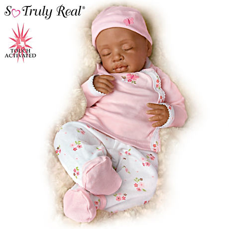 "So Truly Real 19"" African American ""Breathing"" Baby Doll"