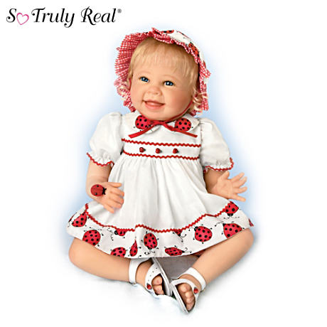Lifelike Baby Doll By Bonnie Chyle Celebrates Ladybugs
