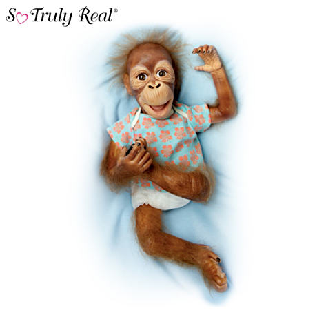 So Truly Real Poseable Orangutan Doll: Baby Maha