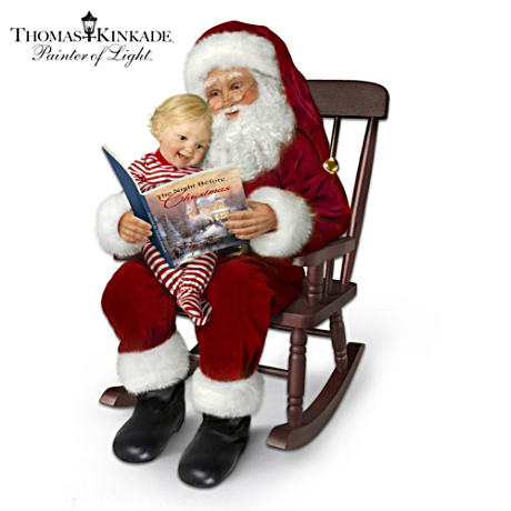 Santa Doll Set With Thomas Kinkade Artwork And Narration