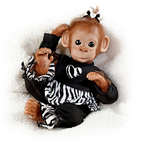Charitable Chimpanzee Doll By Cindy Sales: Baby Binti