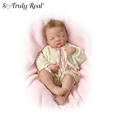 Sleeping Weighted Lifelike Baby Doll by Waltraud Hanl