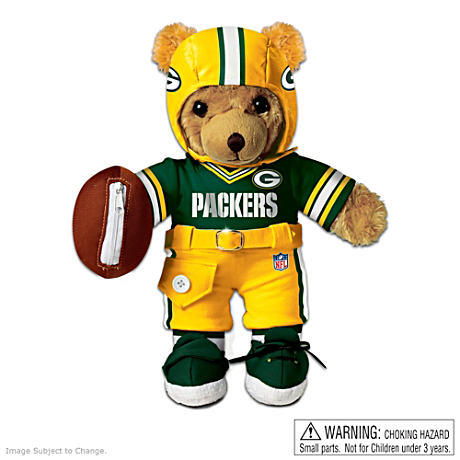 Interactive Green Bay Packers Coaching Teddy Bear