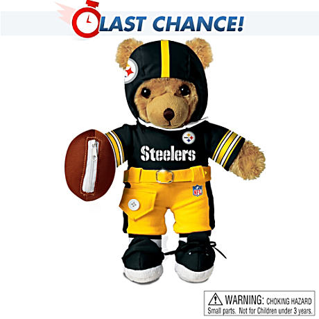 Interactive Pittsburgh Steelers Talking Teddy Bear
