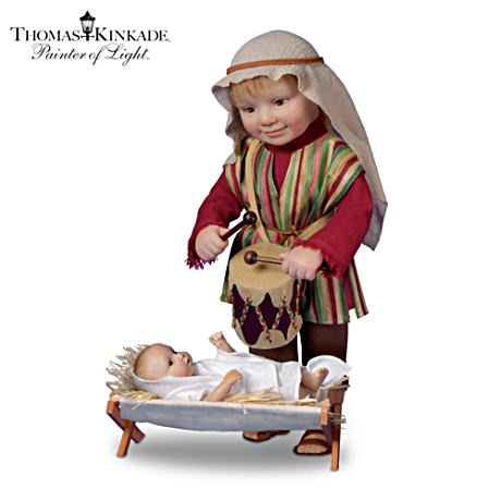Thomas Kinkade Little Drummer Boy Child Doll