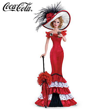 Victorian-Inspired COCA-COLA Poseable Porcelain Figurine
