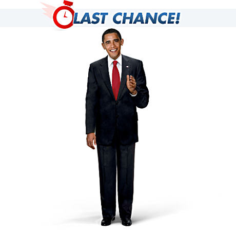 Click here to buy President Barack Obama Poseable Talking Doll.