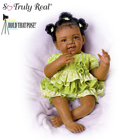 """Alexis"" Poseable Baby Doll By Waltraud Hanl"