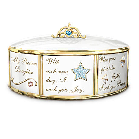 """My Precious Daughter"" Italian Charm-Inspired Music Box"